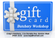 GIFT Card for a Butchery Workshop Experience